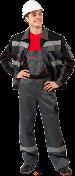 Полукомбинезон с курткой (с двумя светоотражающими полосами)