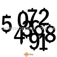 Металлические цифры для информационной таблицы опасного груза