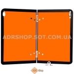 Информационная табличка оранжевого цвета для транспортных средств, перевозящих опасные грузы, сгибаемая           (400 * 300 мм)